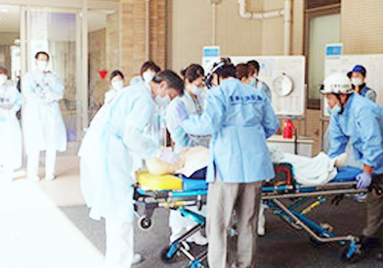 多数傷病者受入実働訓練